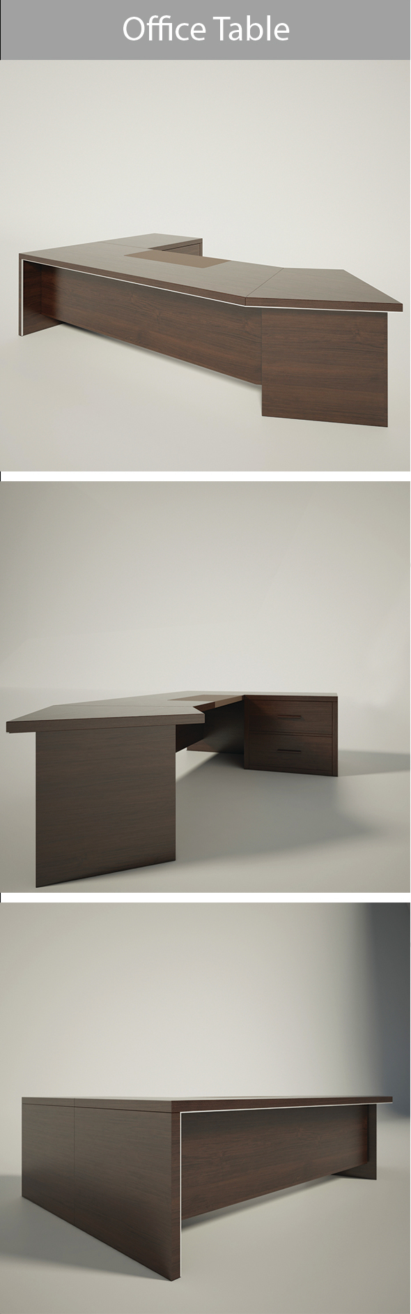 Office Table_01 - 3DOcean Item for Sale