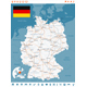 Germany Map and Navigation Labels with Roads