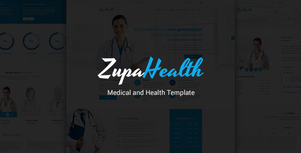 ZupaHealth – Medical and Health PSD Template (Retail) images