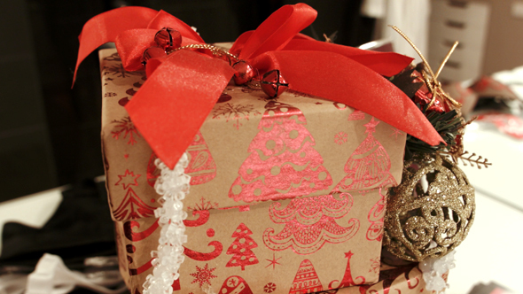Christmas Decorated Boxes And Gifts