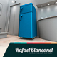 Appliance Two Doors Fridge Surface Design Mock-Up - 1