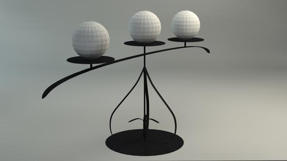 3DOcean Modern candles C4D 1429139