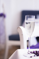Champagne white wine glass in wedding party