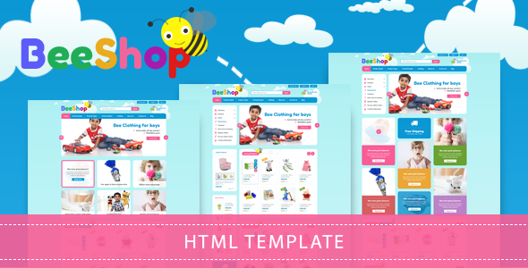 Bee Shop - Kids Shopping Bootstrap Template