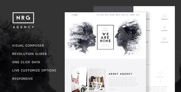 NRGagency - Creative One-Page Agency Theme