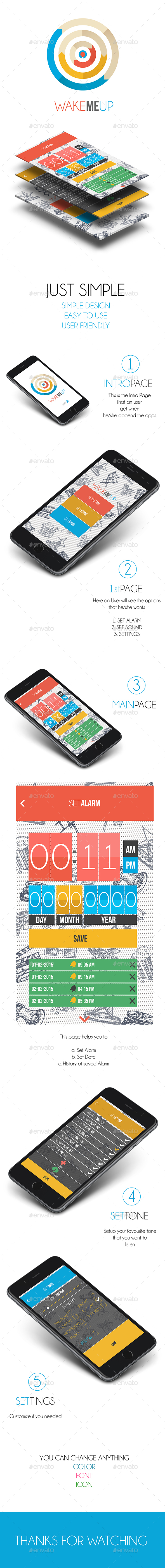 Alarm Application (User Interface Design) (User Interfaces)
