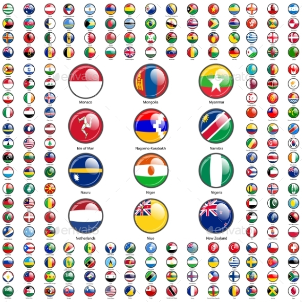 Set Flags of World Sovereign States