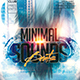 Minimal Sounds Beats Party Flyer