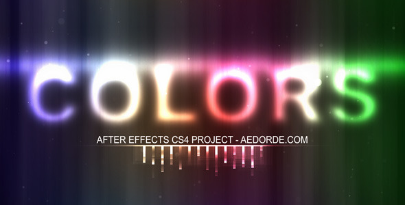 After Effects Project - VideoHive COLORS 78629