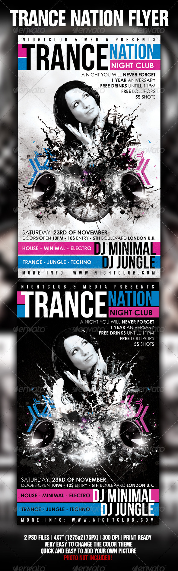 Trance Flyer Template - GraphicRiver Item for Sale