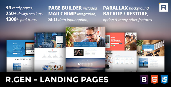 R.Gen - Landing Pages