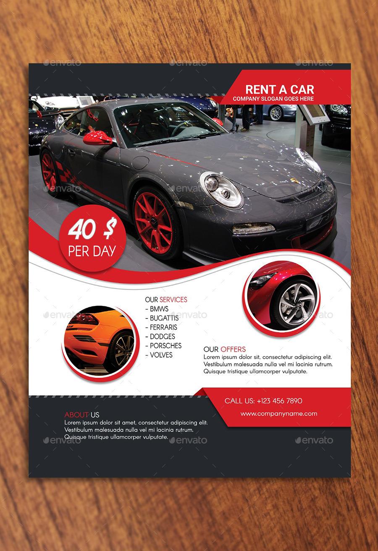 Rent A Car Flyer Template by Rigobro – Car Flyer Template