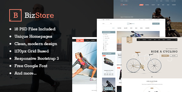 BizStore – Multipurpose eCommerce PSD Template (Retail) images