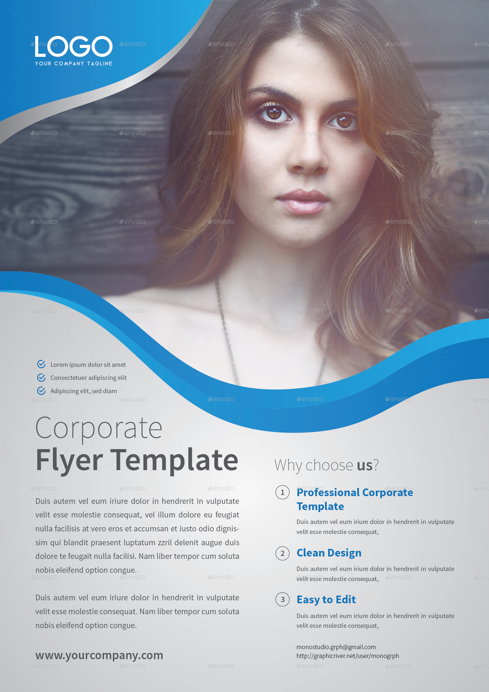 Corporate Flyer Template Set 6 by MONOGRPH – Corporate Flyer Template