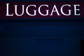Aiport luggage baggage sign