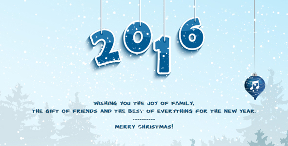 Merry Christmas & Happy New Year Card 1