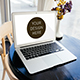 Realistic Laptop Screen Mockup - 5 PSD Files