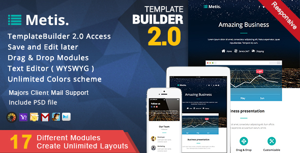 Metis - Responsive Email + MailBuild Online