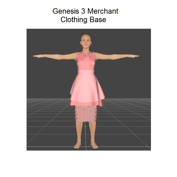 Genesis 3 female dress merchant resource - 3DOcean Item for Sale