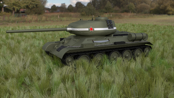 T-34/85 Tank HDRI - 3DOcean Item for Sale