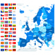 Map and Flags of Europe