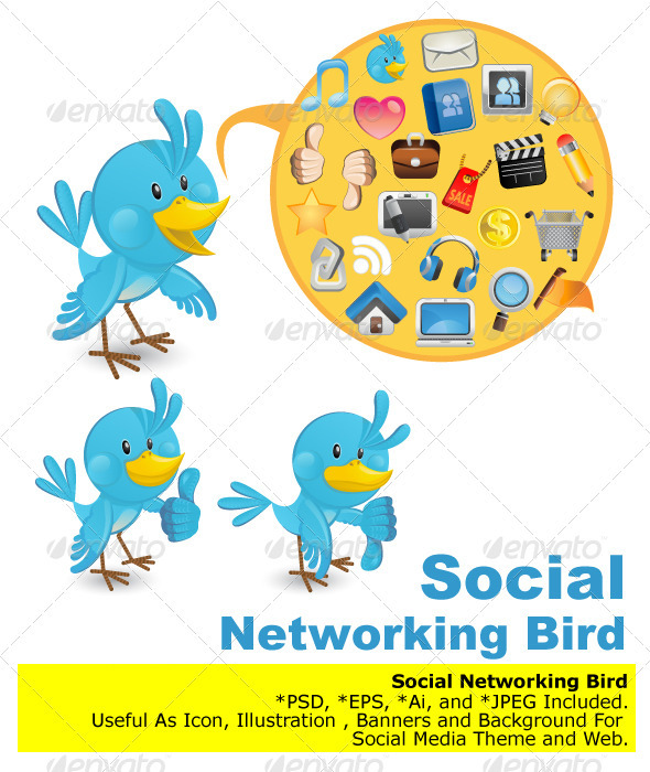 Social Networking Media Bluebird  - Media Technology