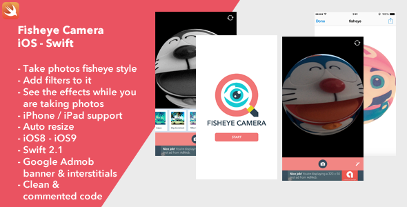Fisheye Camera iOS - CodeCanyon Item for Sale