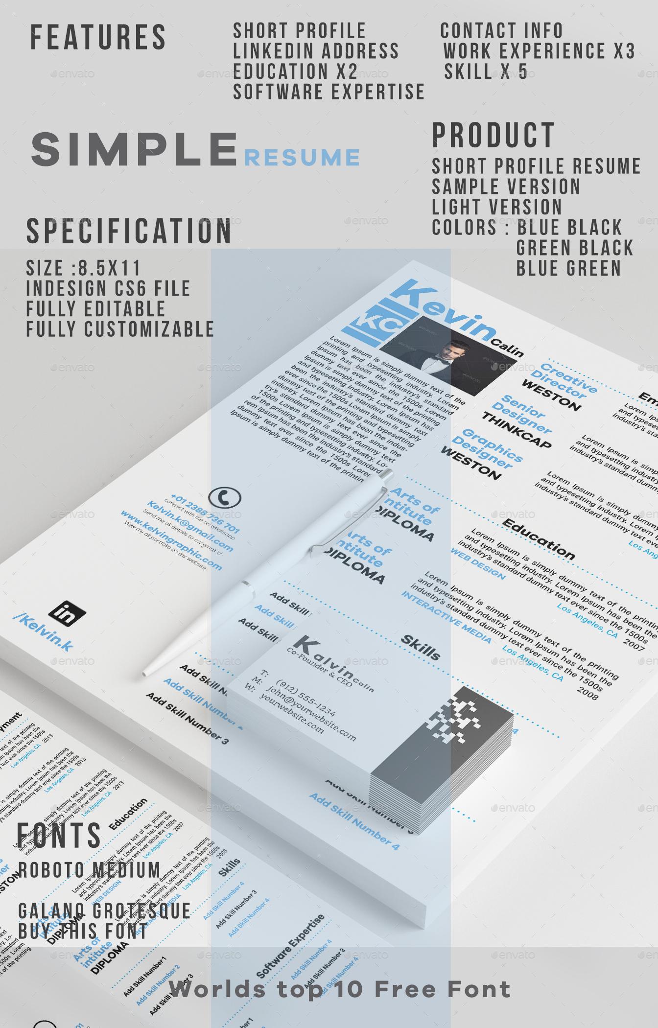 Multitude Resume By Bluishfox Graphicriver