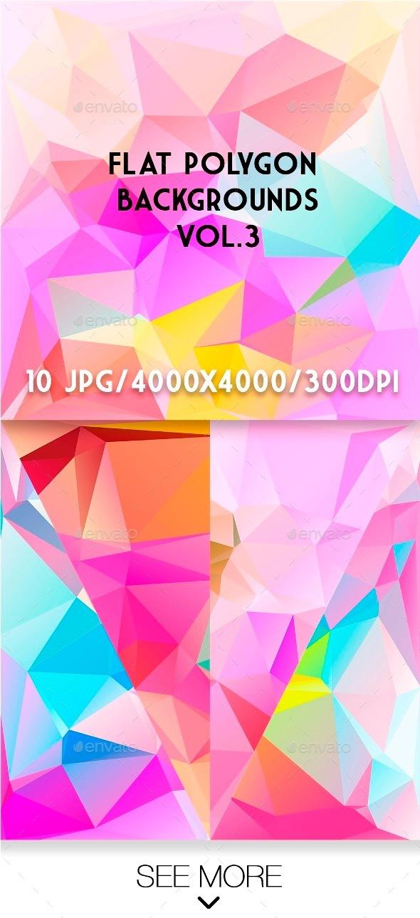 Flat Polygon Backgrounds Vol.3