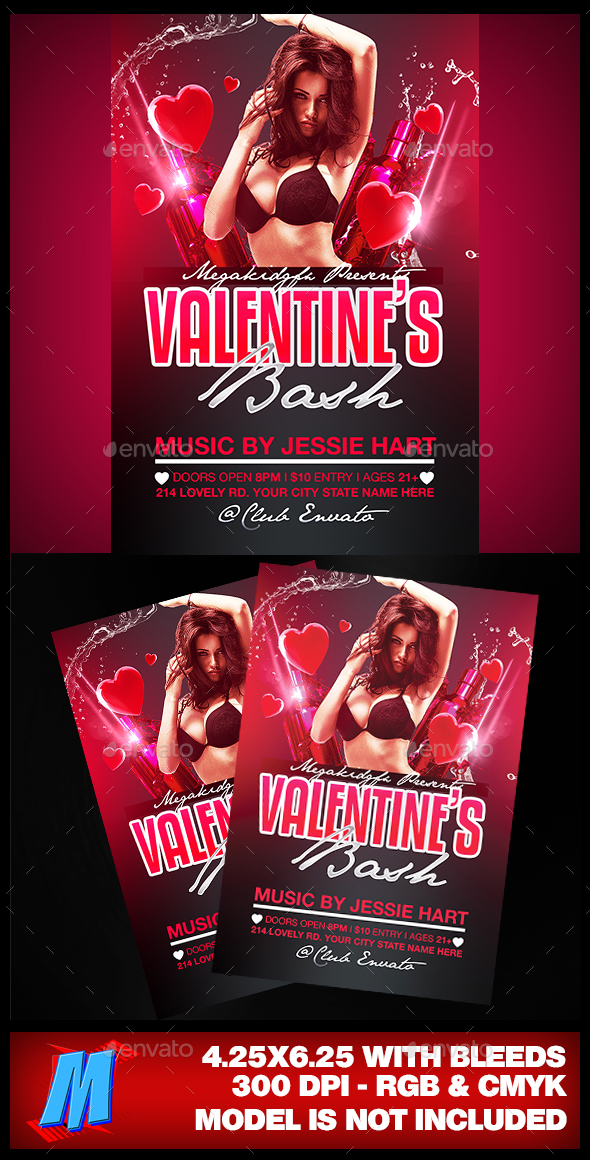 Valentines Bash Flyer Template