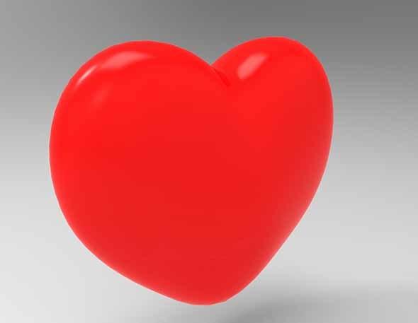 3D Love Heart - 3DOcean Item for Sale