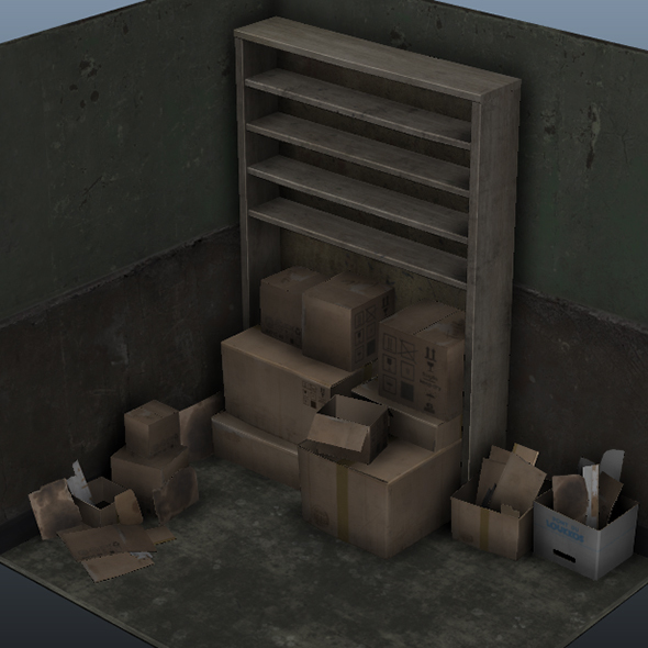 Set of cardboxes - 3DOcean Item for Sale