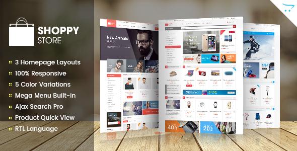 ShoppyStore – Responsive Multipurpose OpenCart Theme (Shopping) Download