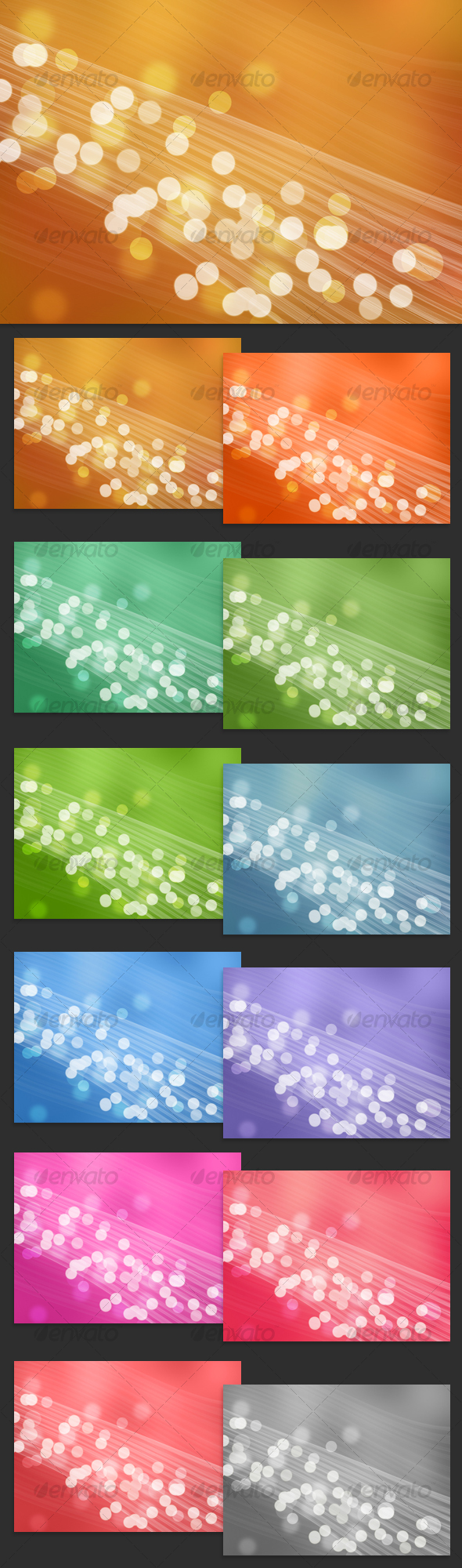 Light Bubbles - Abstract Background Pack - Backgrounds Graphics