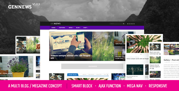 GENNEWS - Smart Magazine, Blog, Page for Wordpress Responsive Themes