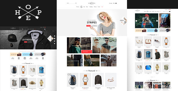 Hope- Responsive eCommerce Bootstrap Template (Shopping)