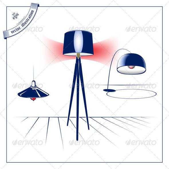 Modern Lamp Set