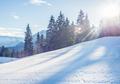 Mountain skiing slope in Garmisch-Partenkirchen resort  in Bavar
