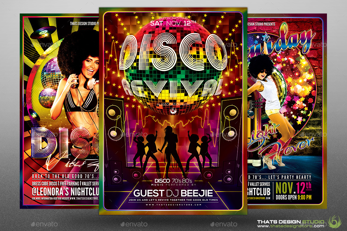 disco music flyer bundle v by lou graphicriver 01 disco flyer bundle jpg