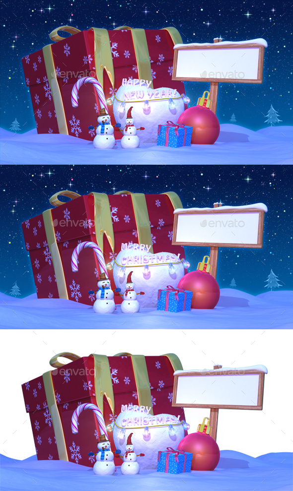 Christmas u0026 Happy New Year Night with Presents
