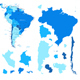 South America Map and Country Contours