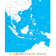 Southeast Asia Map and Navigation Icons