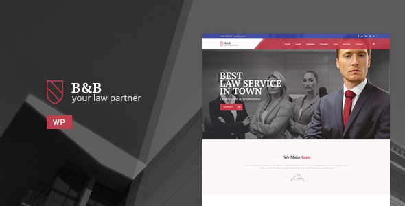 B&B - Law & Attorney WordPress Theme