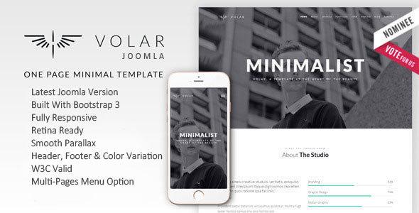 Volar | One Page Minimal Parallax Joomla Template