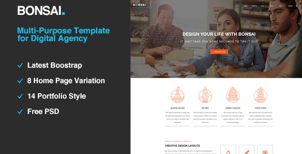 Bonsai | Multi-purpose HTML5 Template for Digital Agency