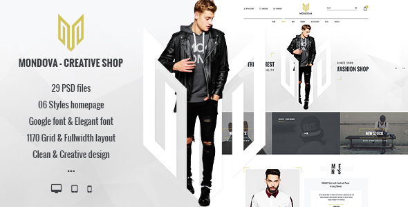 Mondova – Creative Shop PSD Template (Fashion) images