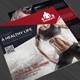 Gym and Fitness Square Trifold Brochure