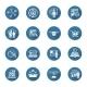 Flat Design Business Icons Set