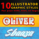10 Illustrator Graphic Styles Vol.2