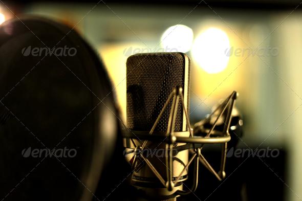 Stock Photo - PhotoDune Studio Microphone in Shockmount 1433260